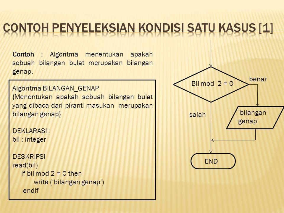 Contoh penyeleksian kondisi satu kasus [1]